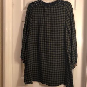 Zara Wool Blend Mini Dress w/Shorts